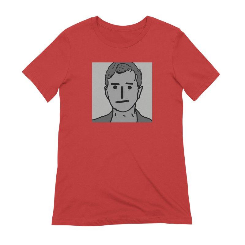 Narrative Pushing Cretin (gray) Women's Extra Soft T-Shirt by Applesawus