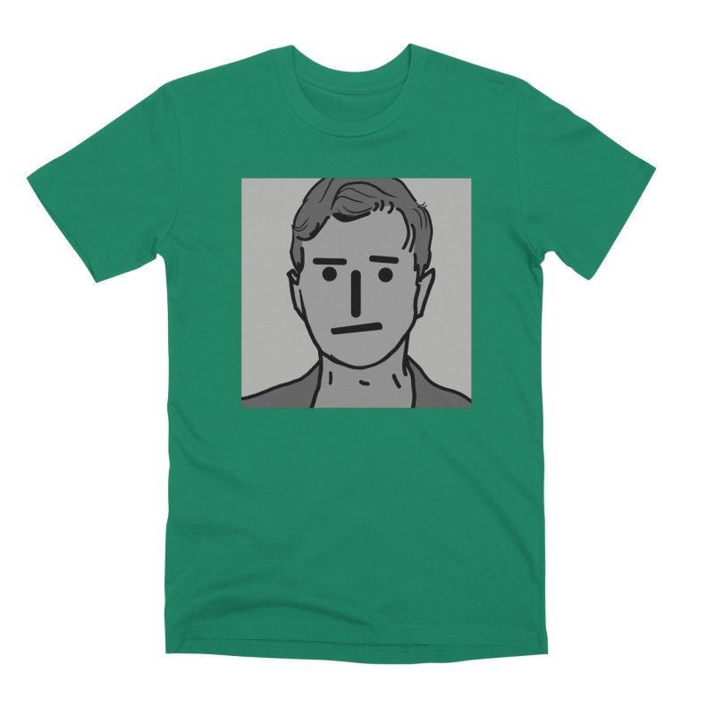 Narrative Pushing Cretin (gray) Men's Premium T-Shirt by Applesawus