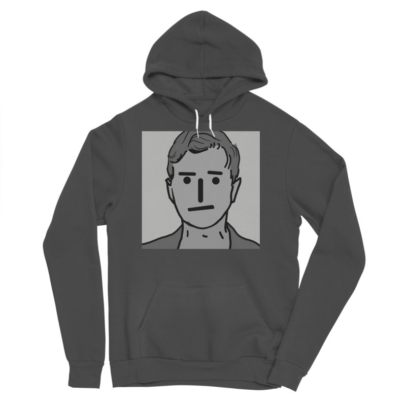 Narrative Pushing Cretin (gray) Men's Sponge Fleece Pullover Hoody by Applesawus