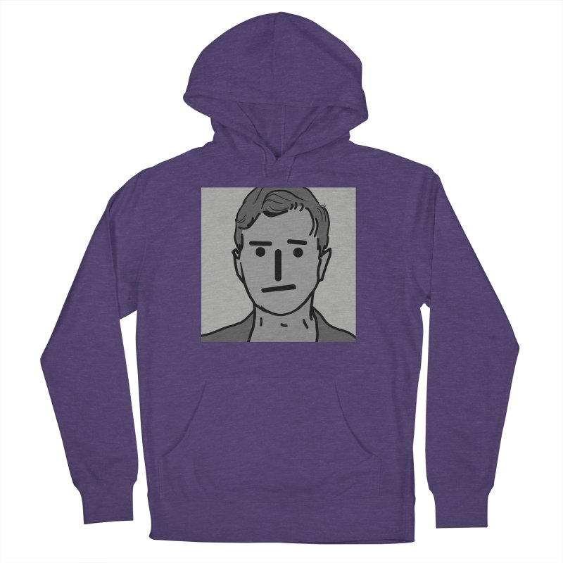 Narrative Pushing Cretin (gray) Men's French Terry Pullover Hoody by Applesawus