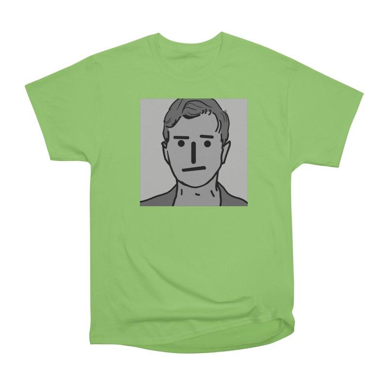 Narrative Pushing Cretin (gray) Men's Heavyweight T-Shirt by Applesawus