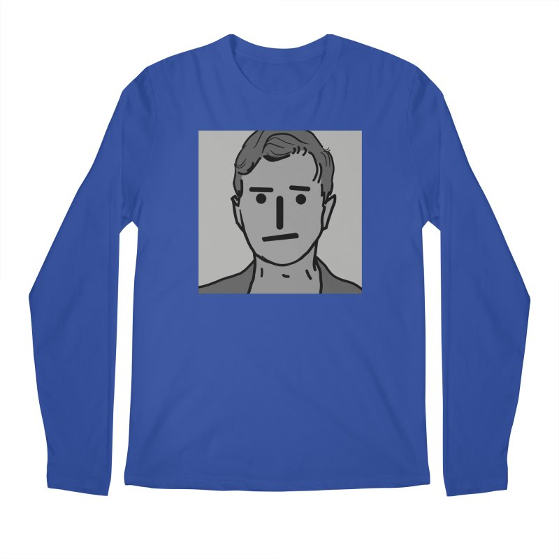 Narrative Pushing Cretin (gray) Men's Regular Longsleeve T-Shirt by Applesawus