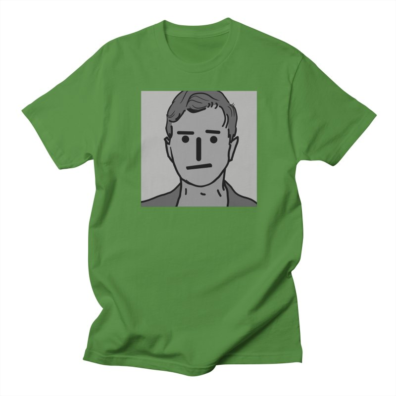 Narrative Pushing Cretin (gray) Men's Regular T-Shirt by Applesawus