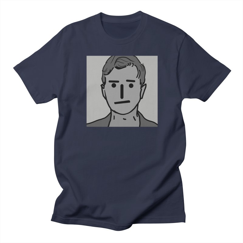 Narrative Pushing Cretin (gray) Men's Regular T-Shirt by Applesawus
