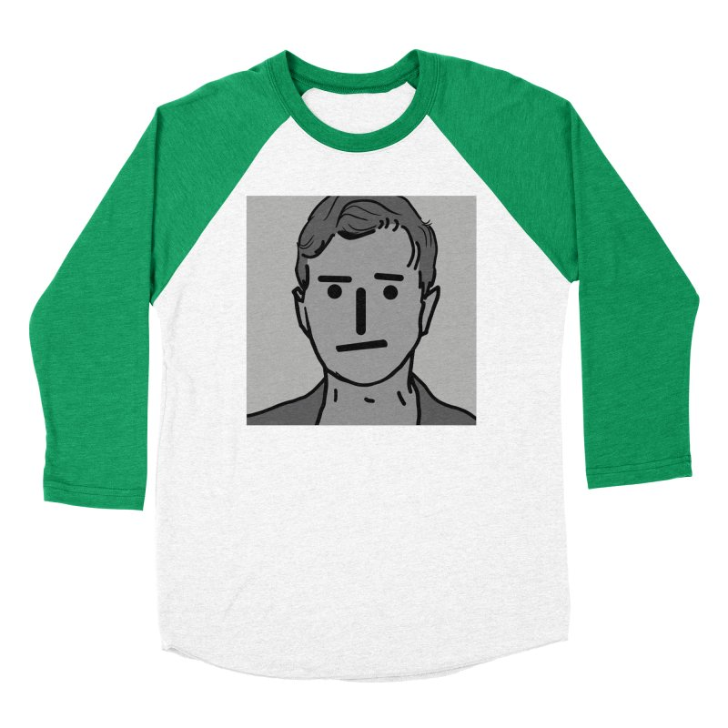 Narrative Pushing Cretin (gray) Women's Baseball Triblend Longsleeve T-Shirt by Applesawus