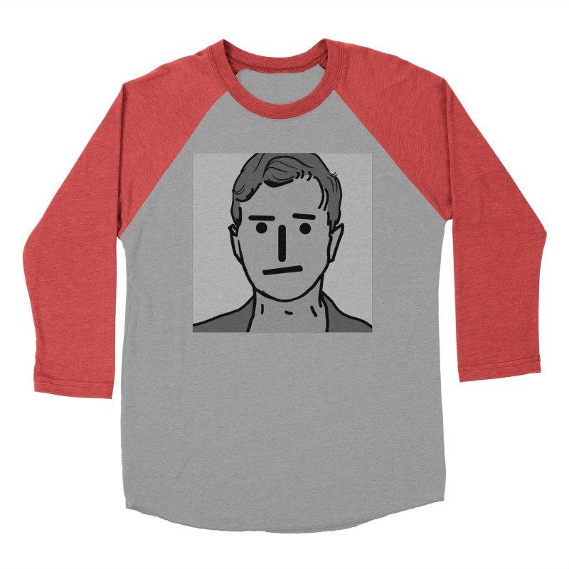 Narrative Pushing Cretin (gray) Men's Baseball Triblend Longsleeve T-Shirt by Applesawus