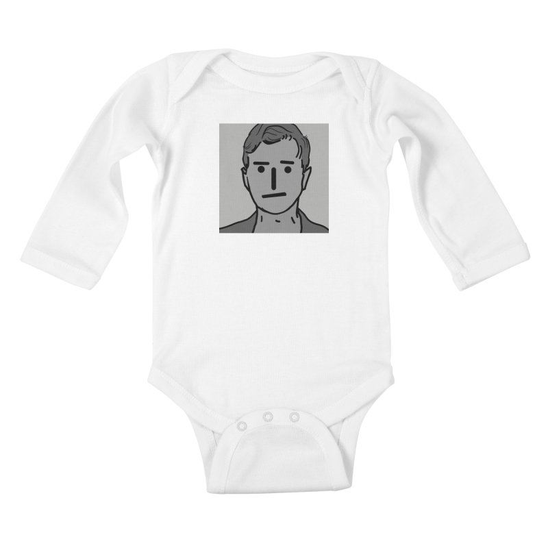 Narrative Pushing Cretin (gray) Kids Baby Longsleeve Bodysuit by Applesawus