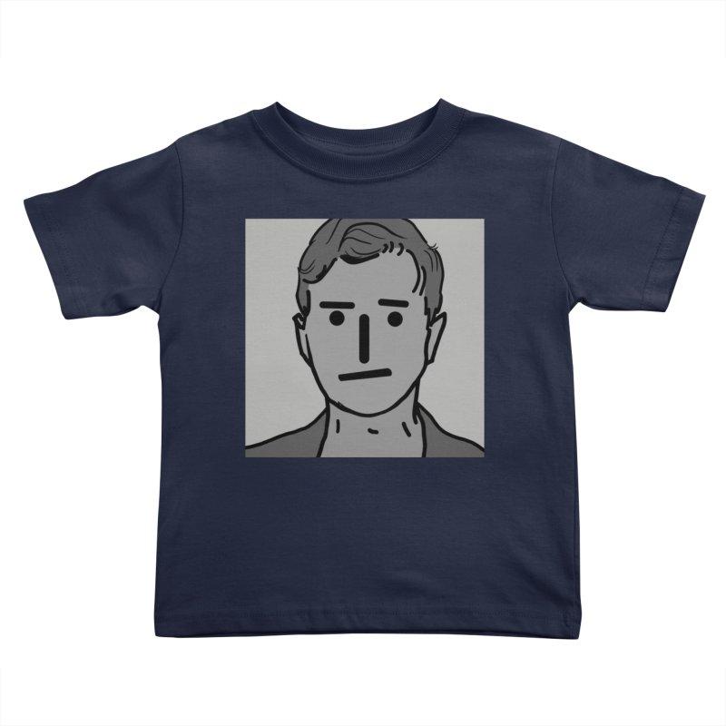 Narrative Pushing Cretin (gray) Kids Toddler T-Shirt by Applesawus