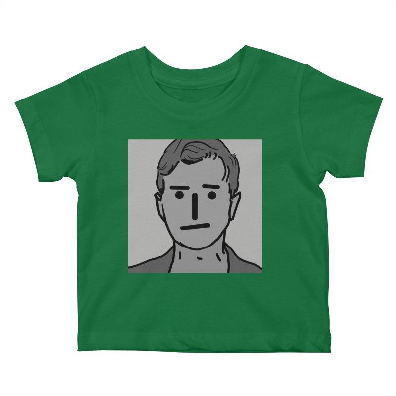 Narrative Pushing Cretin (gray) Kids Baby T-Shirt by Applesawus