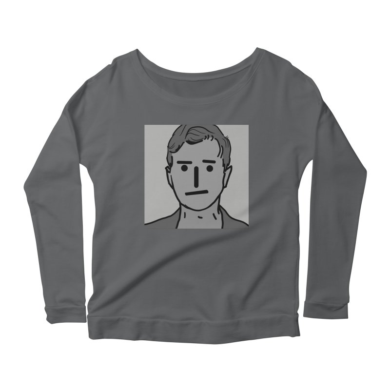 Narrative Pushing Cretin (gray) Women's Scoop Neck Longsleeve T-Shirt by Applesawus