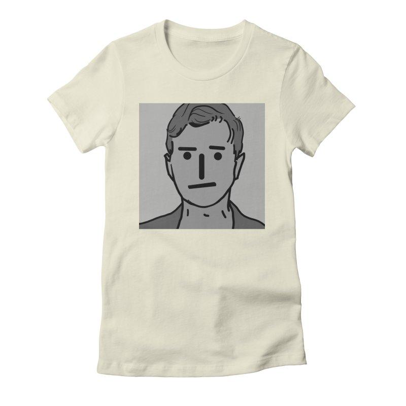 Narrative Pushing Cretin (gray) Women's Fitted T-Shirt by Applesawus
