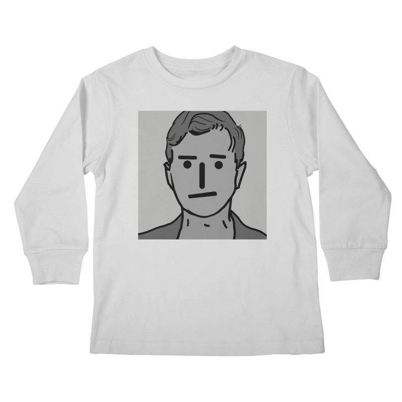 Narrative Pushing Cretin (gray) Kids Longsleeve T-Shirt by Applesawus