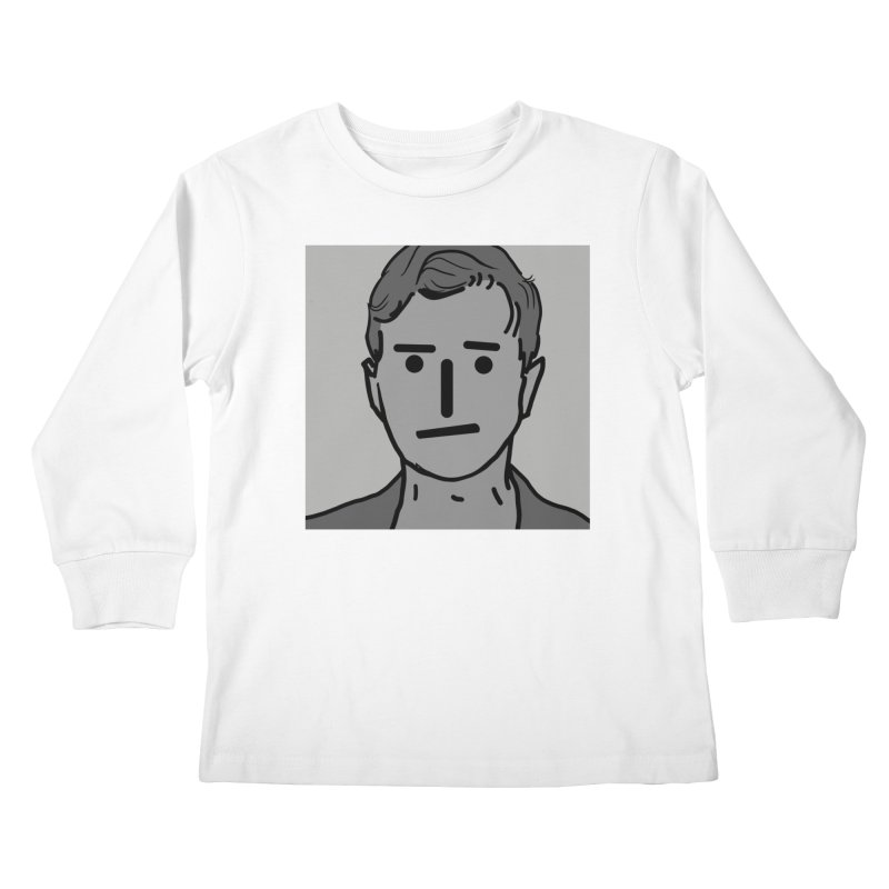 Narrative Pushing Cretin (gray) Kids Longsleeve T-Shirt by Applesawus