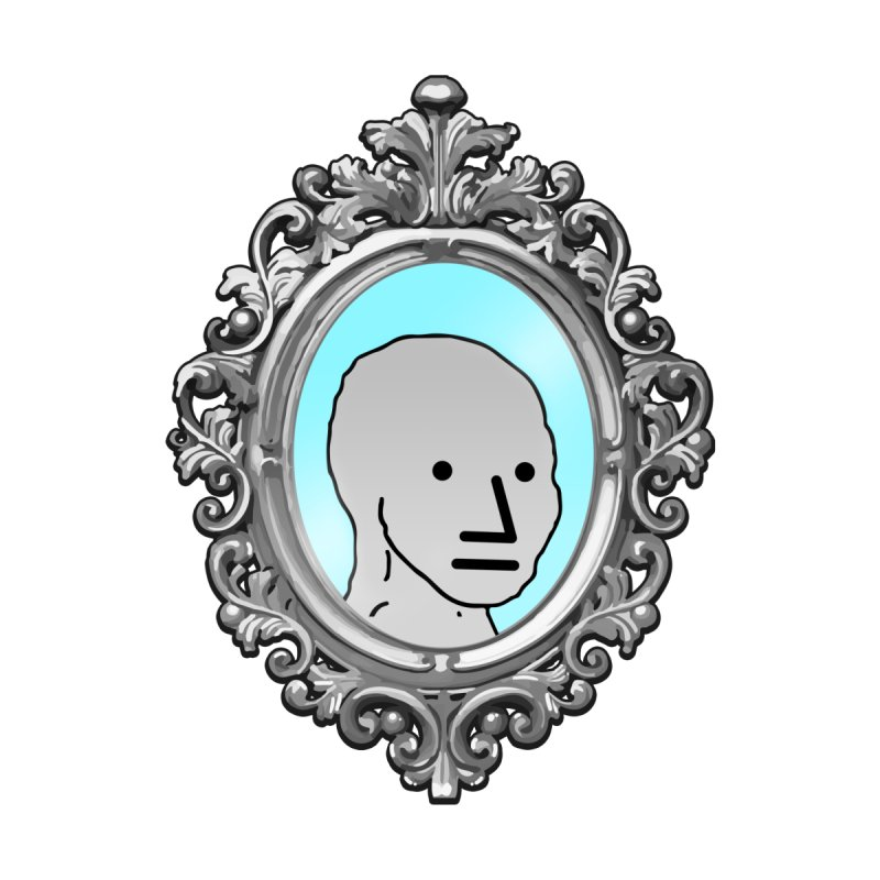 NPC in the Mirror by Applesawus