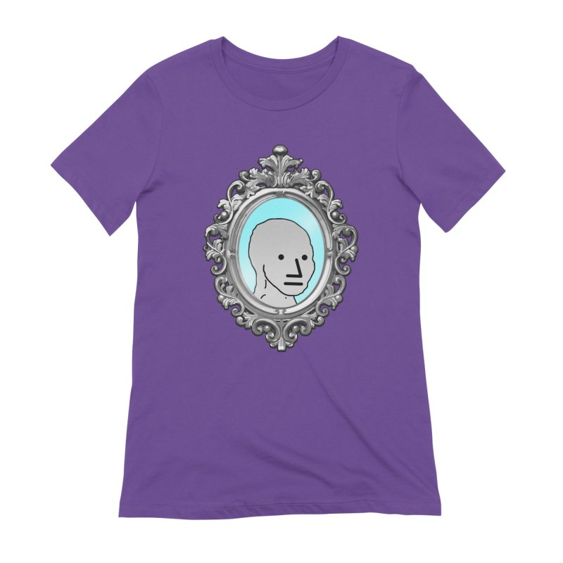 NPC in the Mirror Women's Extra Soft T-Shirt by Applesawus
