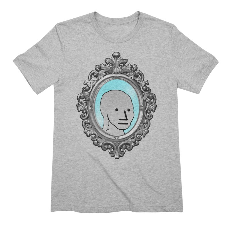 NPC in the Mirror Men's Extra Soft T-Shirt by Applesawus