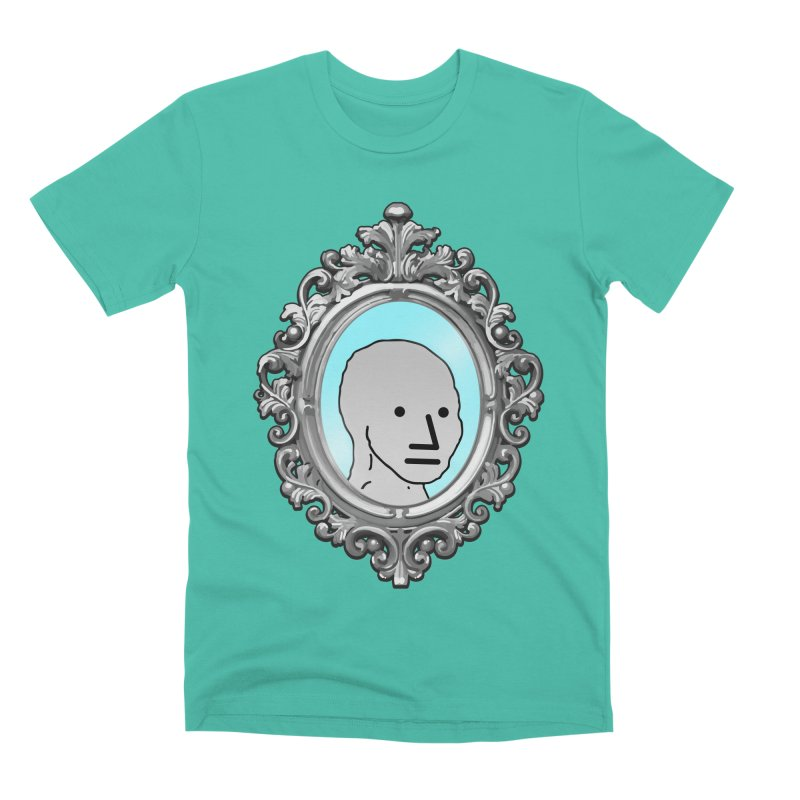 NPC in the Mirror Men's Premium T-Shirt by Applesawus