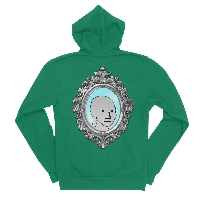 NPC in the Mirror Men's Sponge Fleece Zip-Up Hoody by Applesawus