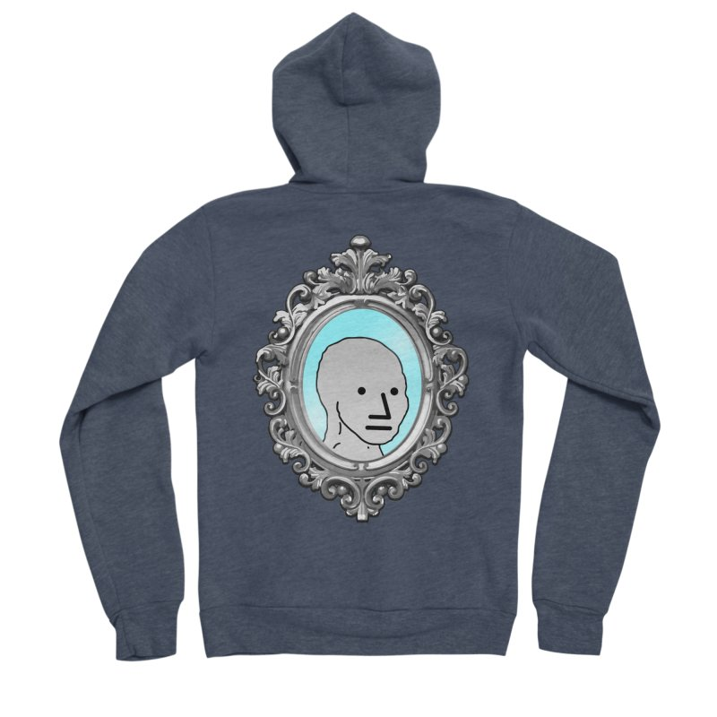 NPC in the Mirror Women's Sponge Fleece Zip-Up Hoody by Applesawus