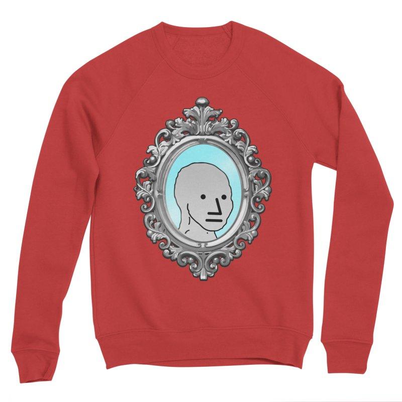 NPC in the Mirror Men's Sponge Fleece Sweatshirt by Applesawus