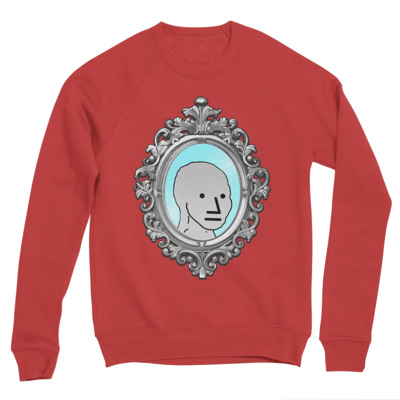NPC in the Mirror Women's Sponge Fleece Sweatshirt by Applesawus
