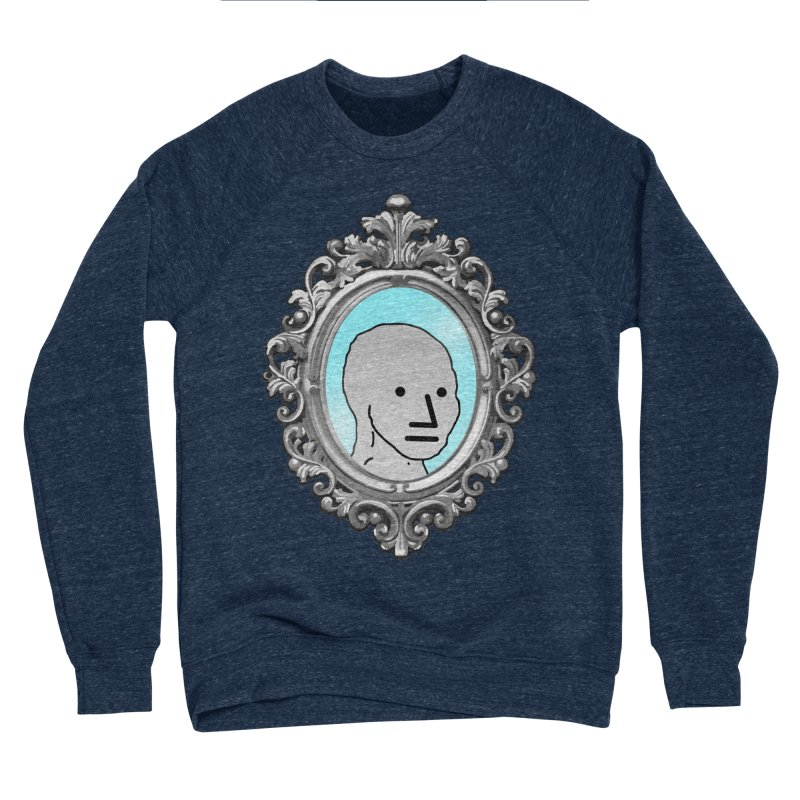 NPC in the Mirror Men's Sponge Fleece Sweatshirt by Applesawus