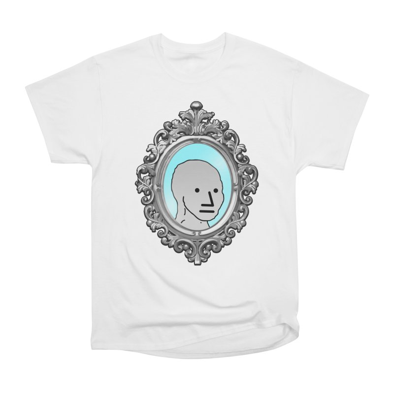 NPC in the Mirror Men's Heavyweight T-Shirt by Applesawus