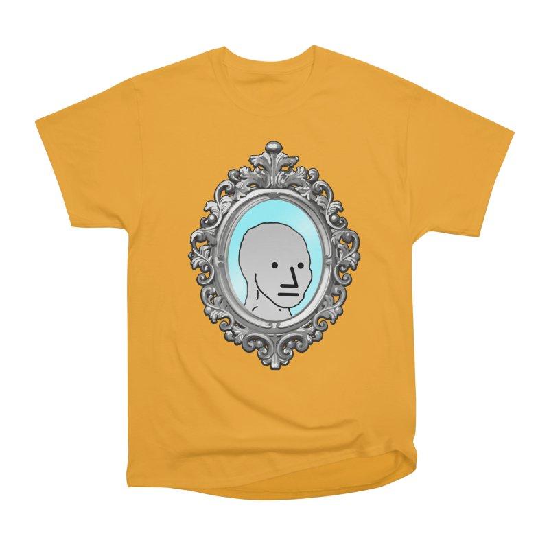 NPC in the Mirror Women's Heavyweight Unisex T-Shirt by Applesawus