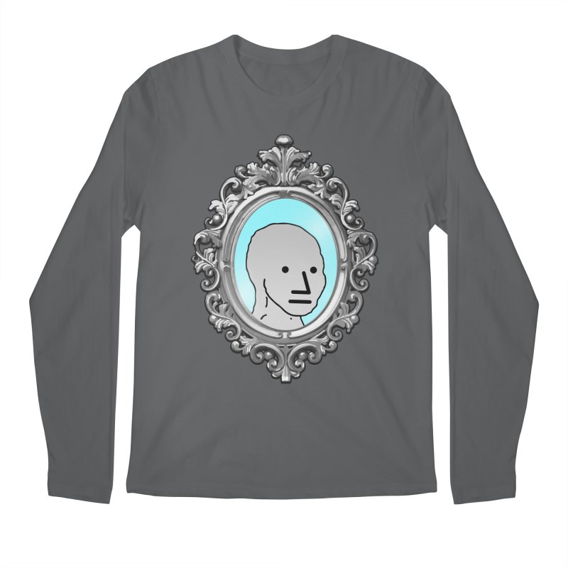 NPC in the Mirror Men's Longsleeve T-Shirt by Applesawus