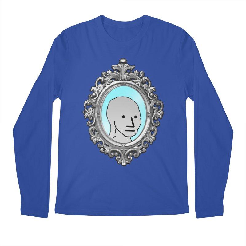 NPC in the Mirror Men's Regular Longsleeve T-Shirt by Applesawus