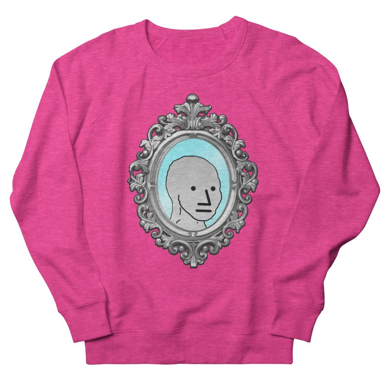 NPC in the Mirror Women's French Terry Sweatshirt by Applesawus