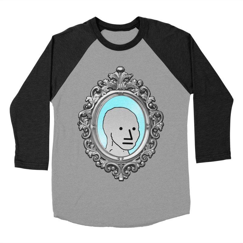NPC in the Mirror Women's Baseball Triblend Longsleeve T-Shirt by Applesawus