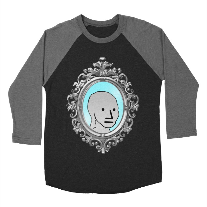 NPC in the Mirror Men's Baseball Triblend Longsleeve T-Shirt by Applesawus