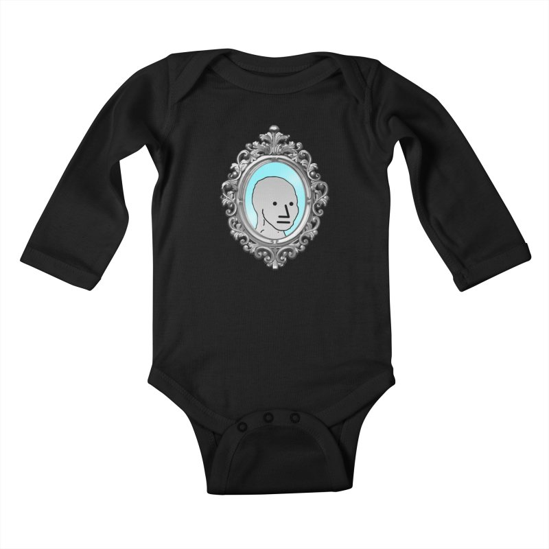 NPC in the Mirror Kids Baby Longsleeve Bodysuit by Applesawus