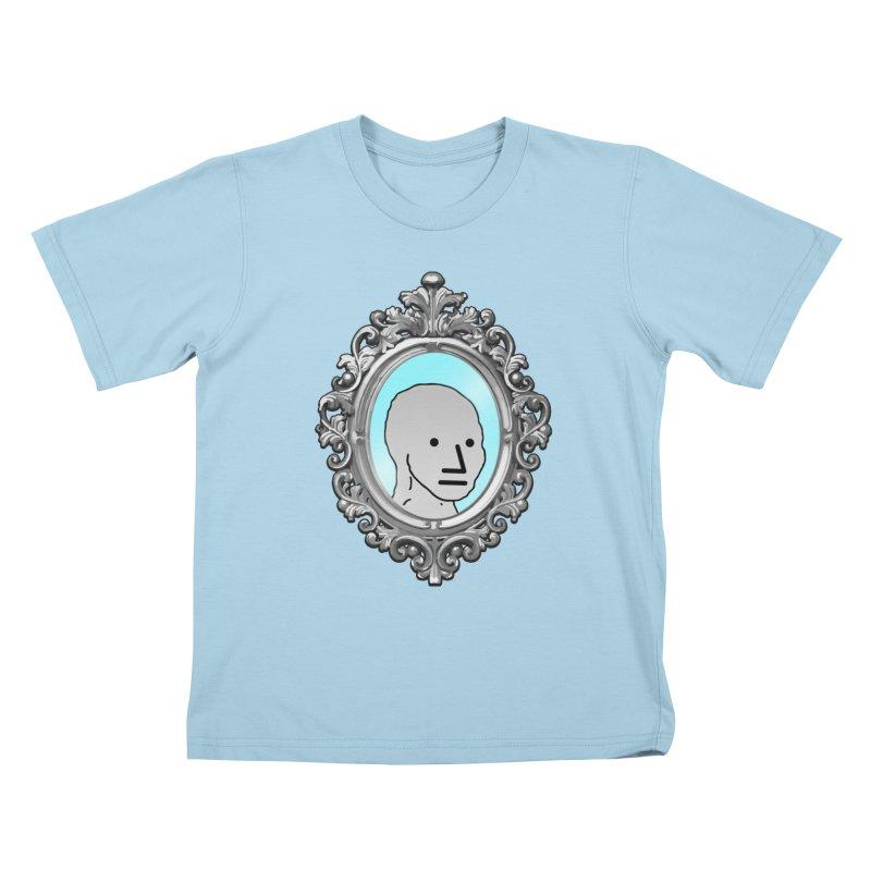 NPC in the Mirror Kids T-Shirt by Applesawus