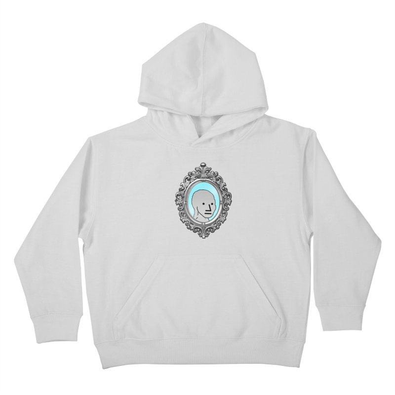 NPC in the Mirror Kids Pullover Hoody by Applesawus