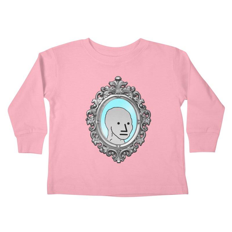 NPC in the Mirror Kids Toddler Longsleeve T-Shirt by Applesawus