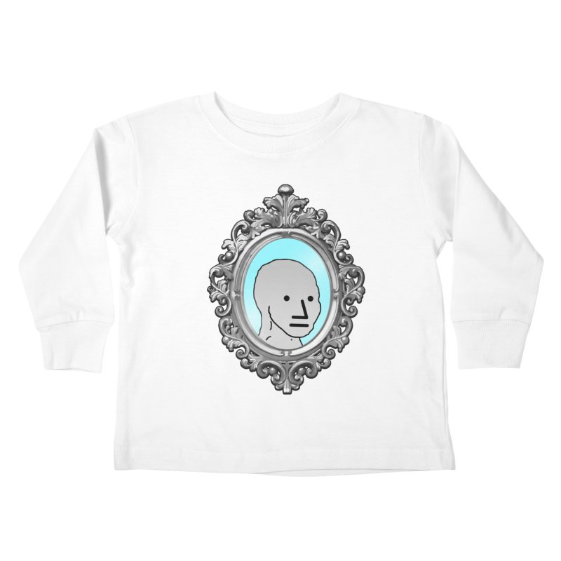 NPC in the Mirror Kids Toddler Longsleeve T-Shirt by Applesawus