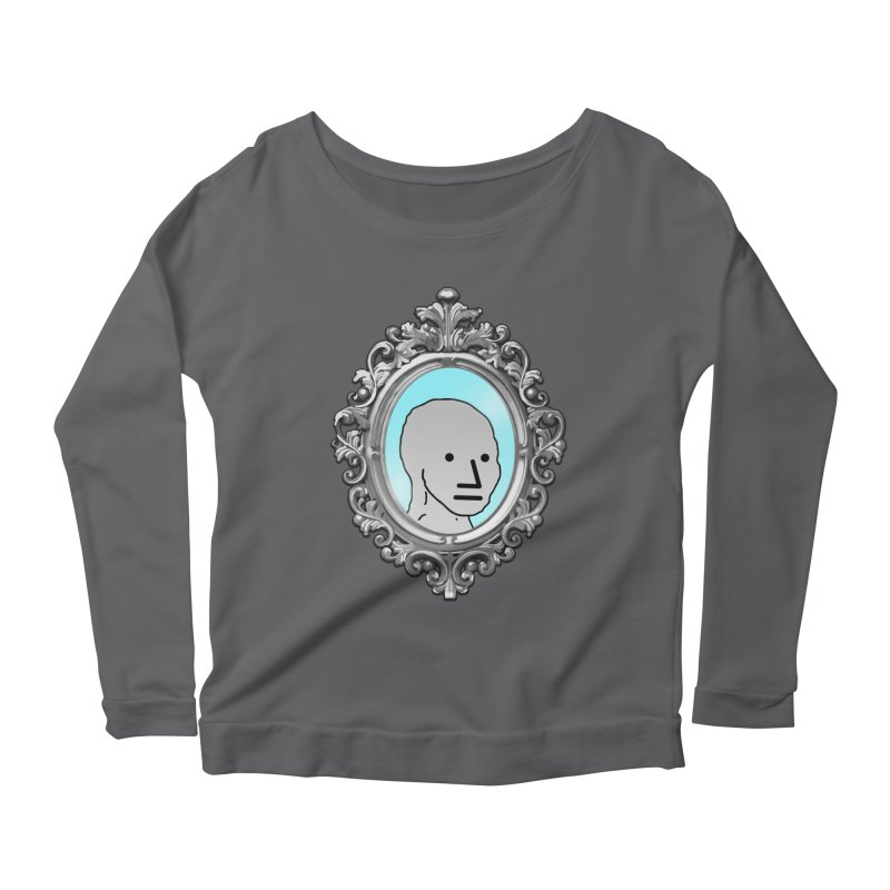 NPC in the Mirror Women's Scoop Neck Longsleeve T-Shirt by Applesawus