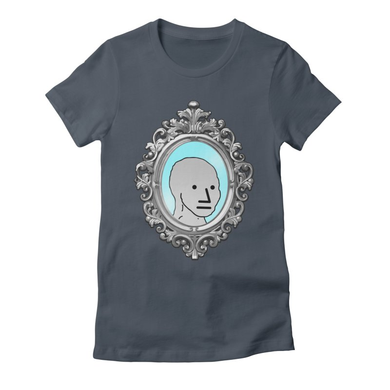 NPC in the Mirror Women's Fitted T-Shirt by Applesawus