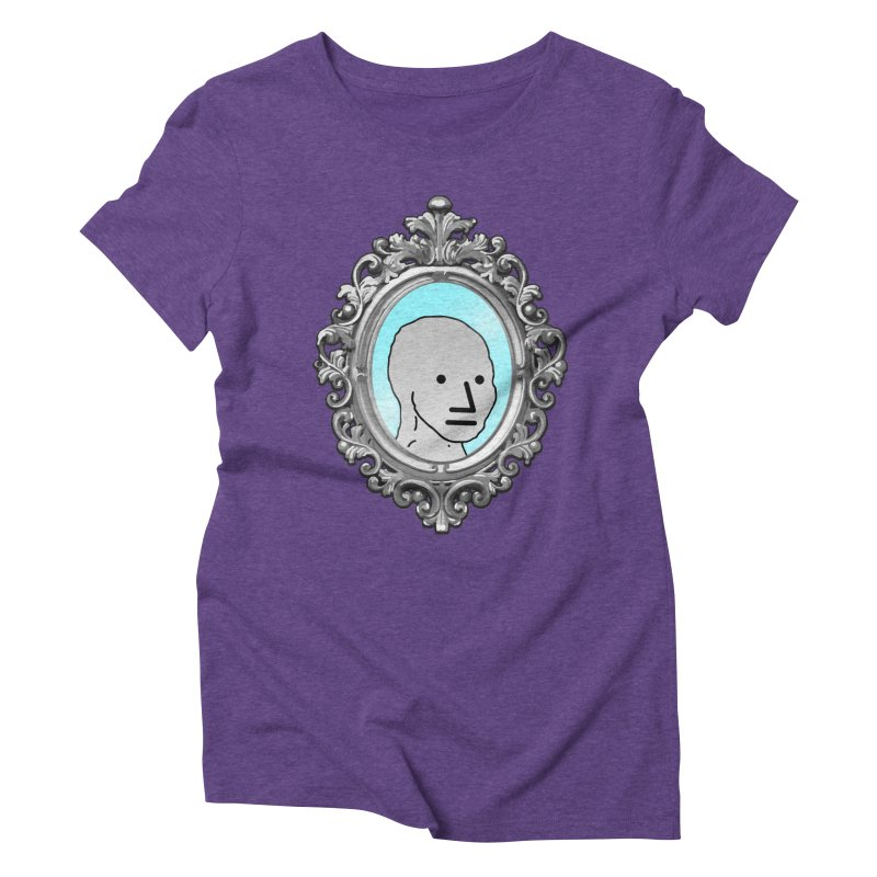 NPC in the Mirror Women's Triblend T-Shirt by Applesawus