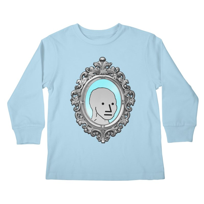 NPC in the Mirror Kids Longsleeve T-Shirt by Applesawus