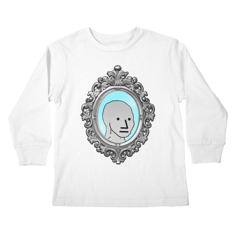 NPC in the Mirror Kids Longsleeve T-Shirt by Applesawus