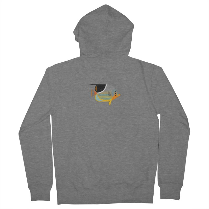 Saddleback Butterflyfish Women's French Terry Zip-Up Hoody by Aquarium Apps Apparel