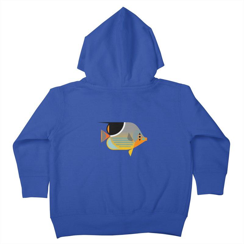 Saddleback Butterflyfish Kids Toddler Zip-Up Hoody by Aquarium Apps Apparel