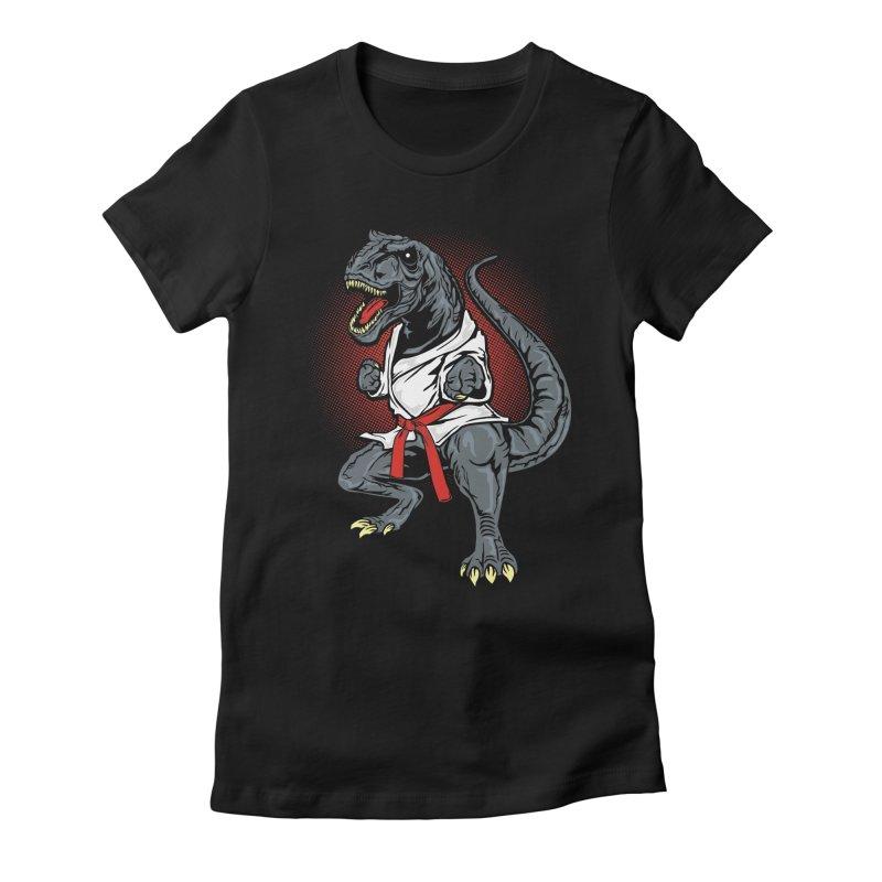 KARA T-REX Women's Fitted T-Shirt by arace's Artist Shop