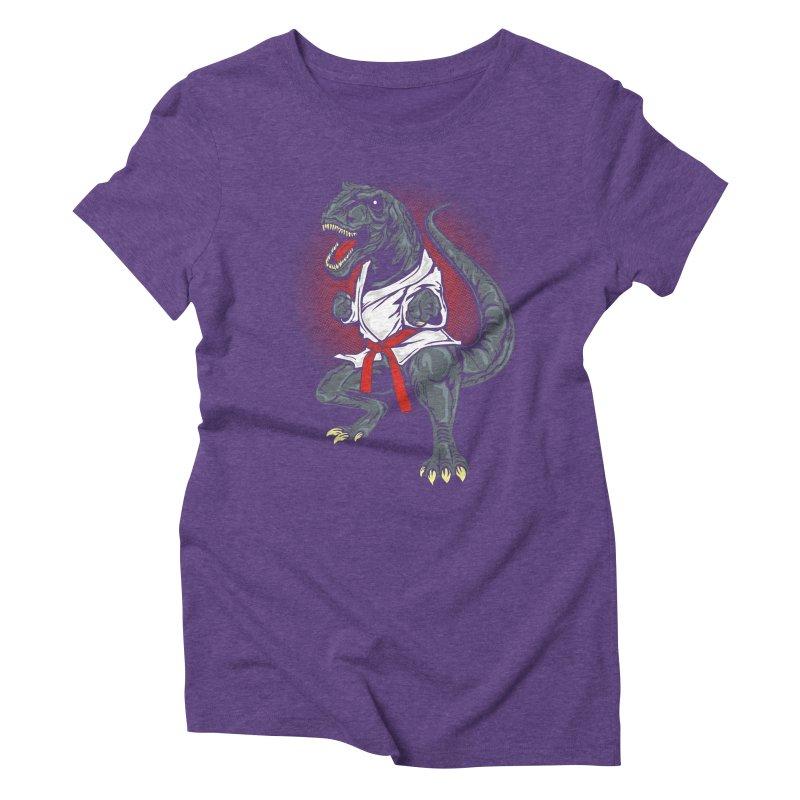 KARA T-REX Women's Triblend T-shirt by arace's Artist Shop