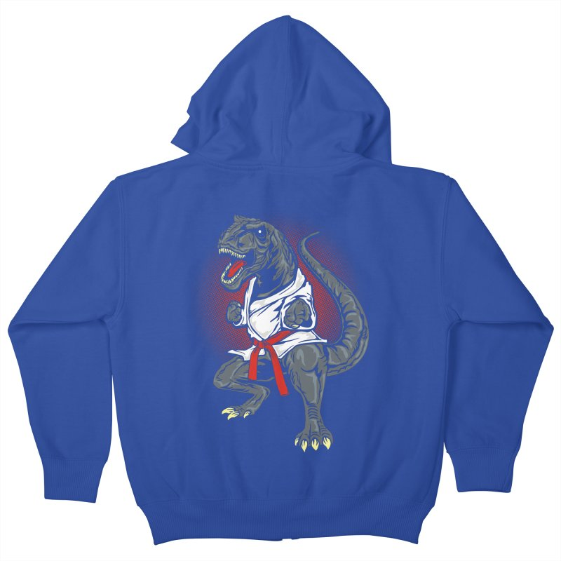 KARA T-REX Kids Zip-Up Hoody by arace's Artist Shop