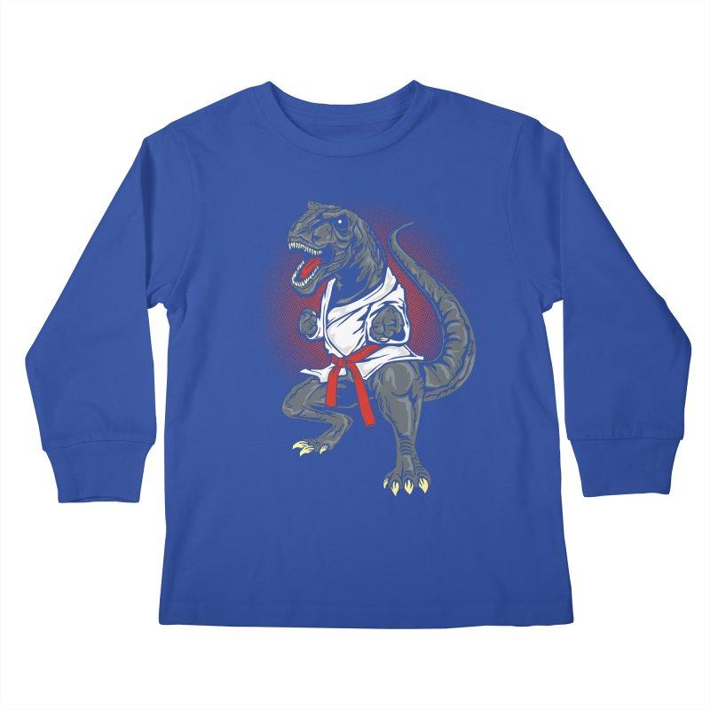 KARA T-REX Kids Longsleeve T-Shirt by arace's Artist Shop