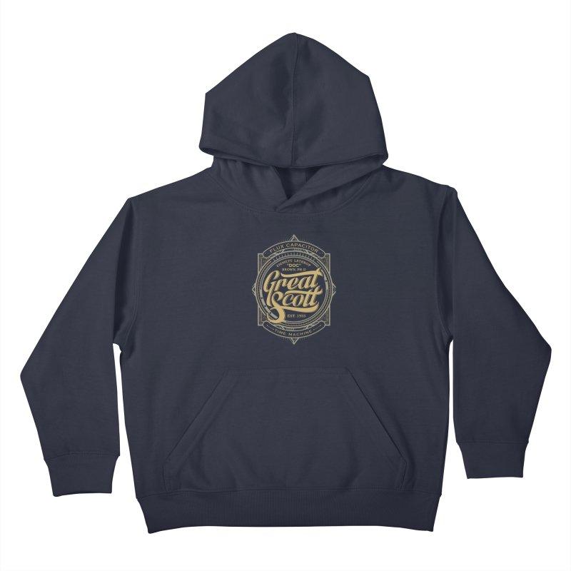 GREAT SCOTT ! Kids Pullover Hoody by arace's Artist Shop